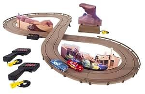 Amazon.com: Cars Dirt Track Racing Slot Car Set: Toys & Games