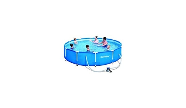 Piscina tubular redonda Bestway 3, 66 x 0, 76 m 56062 GS: Amazon ...