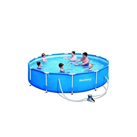 Piscina tubular redonda Bestway 3, 66 x 0, 76 m 56062 GS: Amazon.es: Hogar