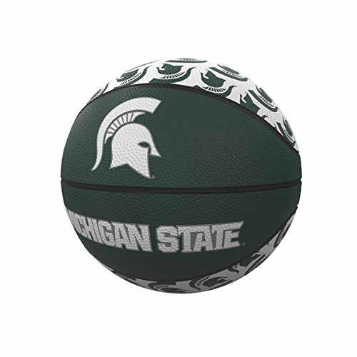 Logo Brands NCAA Michigan State Spartans Rubber Basketball, Miniature, -