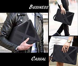 ZEN - Men & Women Clutch Bag Wallet PU Leather Lattice Handbag Envelope Business Organizer Purse