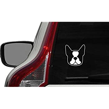 Amazoncom Peeking Boston Terrier A Vinyl Decal Sticker Car - Custom vinyl decals boston