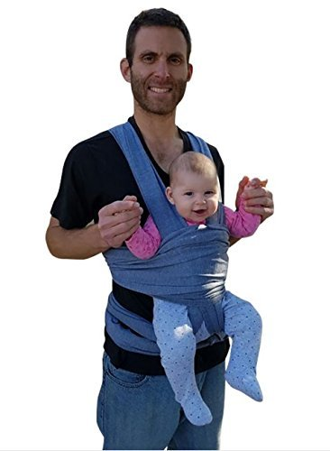 Kangaroo Baby Wrap Carrier | Stretchy, Unisex & Breathable Sling Pouch- Breastfeeding Cover For Newborns - Machine Washable Front Chest Infant Wrap- BONUS Ebook On Dealing With baby Sleeping Problems