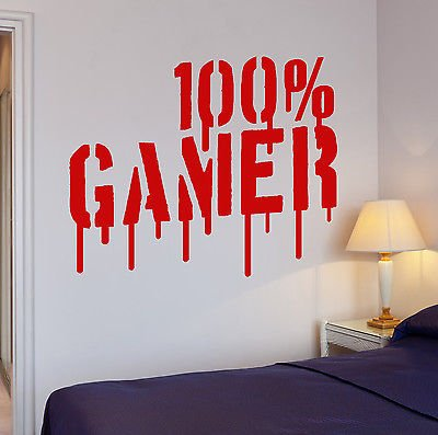 Wall Decal Gamer Video Games Computer Boys Room Vinyl Stickers (vs2655)