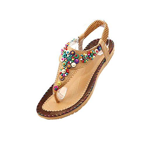 03d31b236acaf4 FUNOC Womens Ladies Summer Thong Sandals Flats Toe Post Flip Flops Casual  Boho Shoes - Buy Online in UAE.