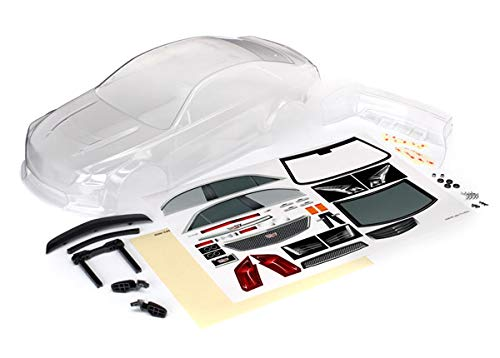 Traxxas TRA8391 Body, Cadillac CTS-V (Clear, Requires Painting)/ Decal Sheet