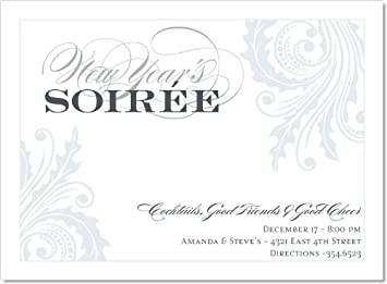 noteworthy collections formal new years party invitations new years soire blanc invitation pack