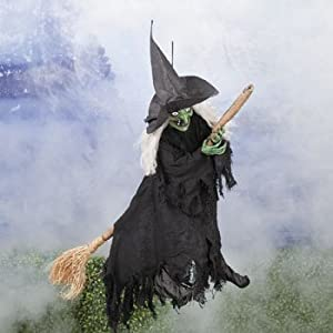 flying witch halloween decoration prop