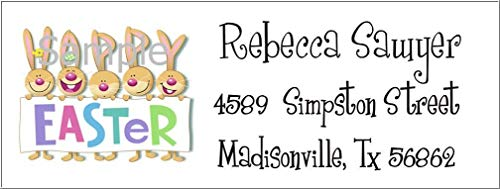(tkniftylabel Happy Easter Bunny #14 Laser Return Address Labels)