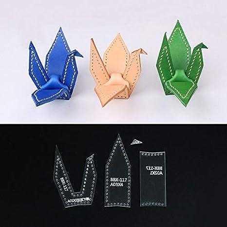 Amazon.com: 4 piezas DIY cuero Craft Acrílico Origami Crane ...