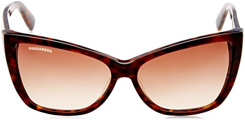 D Squared Lunettes de soleil 0129 Pour Femme Shiny Black / Gradient Smoke 55F: Coloured Tortoise