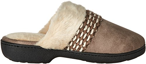 Smoky Microsuede Slippers Isotoner Women's Taupe Erica Clog qzXPwwFU4