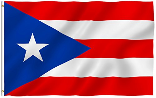 ANLEY [Fly Breeze] 3x5 Foot Puerto Rico Flag - Vivid Color and UV Fade Resistant - Canvas Header and Double Stitched - Puerto Rican National Flags Polyester with Brass Grommets 3 X 5 Ft