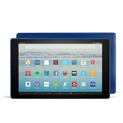 "All-New Fire HD 10 Tablet with Alexa Hands-Free, 10.1"" 1080p Full HD Display, 64 GB, Marine Blue - with Special Offers"