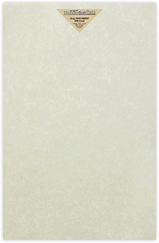 50 Gray Parchment 65lb Cover Weight Paper - 11