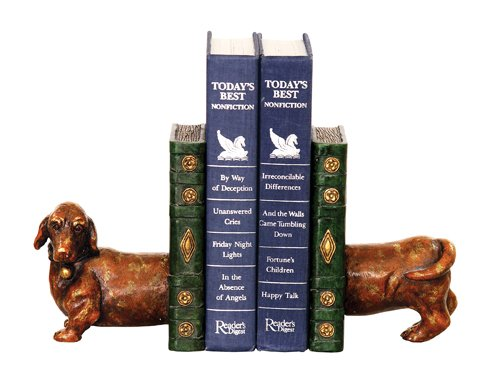 Puppy Bookends - Sterling Home Pair of Peppy Puppy Bookends, 6-1/2-Inch Tall