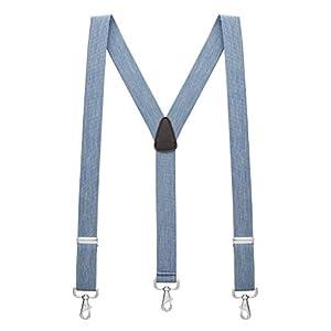 SuspenderStore Men's 1.5 Inch Trigger Snap Suspenders