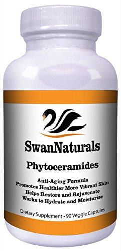 Phytoceramides-Premium Phytoceramide Capsules 90 comte tous les naturels Phytoceramides Plant Derived Anti vieillissement peau saine supplément