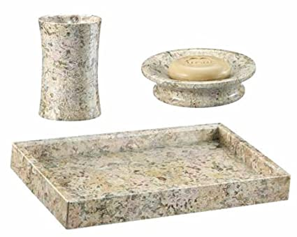 Amazon Khan Imports Coral Stone Bath Set Traditional Coral