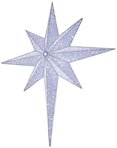 GKI/Bethlehem Lighting LED Lighted and Silver Moravian Star Commercial Christmas Tree Topper Decoration, 48