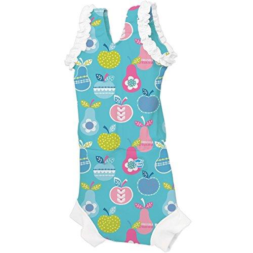[Splash About Happy Nappy Costume (Neoprene Swim Nappy) (Tutti Frutti, Small (0-4 months))] (0-3 Month Swimming Costumes)