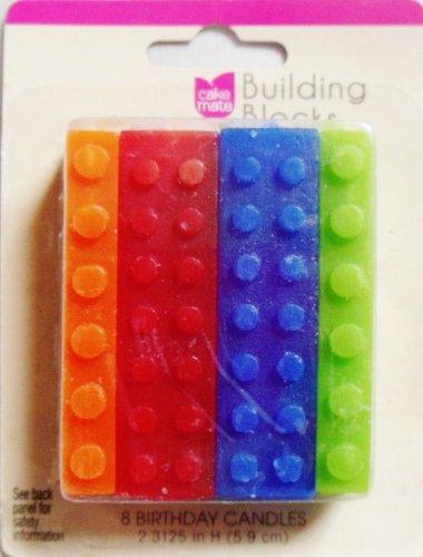 Building Blocks Candles - 8ct
