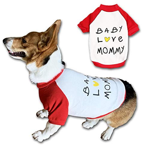 Chol&Vivi Dog Hoodies Clothes Cold Weather Dog Shirts for Dog Puppy, Baby Love Mommy Dog Warm Clothes for Dogs Boy Dogs…