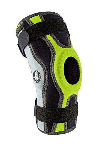 Body Glove Sports Wrap Knee Brace - Injury Prevention Removable Bilateral Hinges - Knee Wrap Supports Mild ACL, PCL, MCL Sprains - Patella and Meniscus Tear Pain Relief (Green, Large)