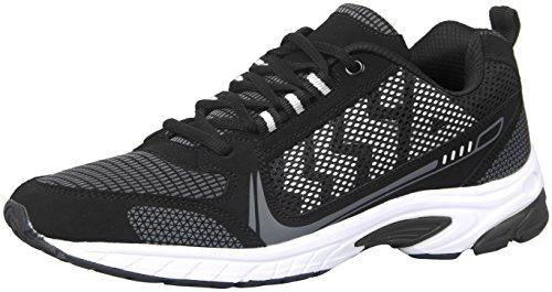 iLoveSIA Men's Comfortable Easy-Go Running Shoe Black+White US Size 11