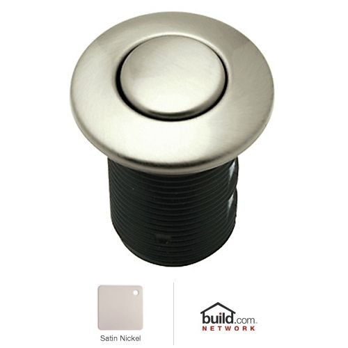 Rohl AS425STN Air Activated Switch Button Only for Waste Disposal Including Escutcheon Base and Fastening Nut, Satin (Rohl Nuts)