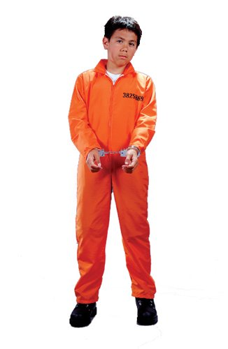 Orange Convict Costume (Child Got Busted Convict)