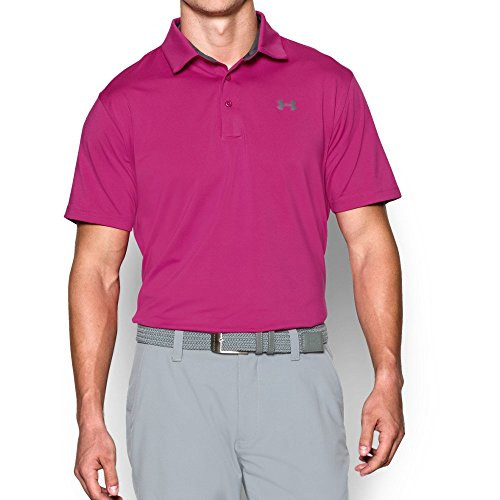 Edition Golf Shirt - Under Armour Men's Playoff Polo - Special Edition, Tropic Pink (654)/Graphite, Large