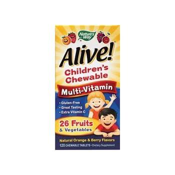 Nature S Way Alive Children S Multivitamin Chewable Tablets Ingredients