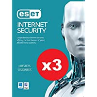 3 x Pack of ESET Internet Security OEM 3 Devices 1 Year
