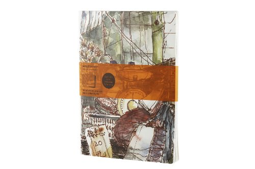 Moleskine Cover Art Journal by Paul Wang (Set of 2 ), Letter, Ruled (8.5 x 11) (Cover Art (Moleskine Artists Collection)