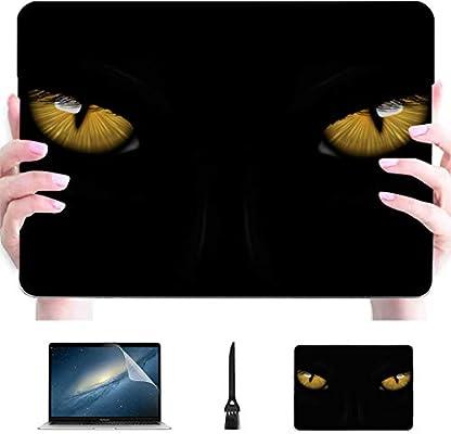 Macbook Pro Shell Case Black Jaguar Panther Beautiful Eyes Plastic Hard Shell Compatible Mac Mac Book Pro Estuches Accesorios de protección para Macbook con Mouse Pad: Amazon.es: Electrónica