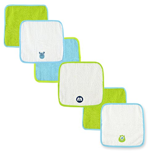 [Disney Baby Washcloth Set, Blue/Lime Green Monsters ( 6 Pack)] (Baby Monsters Inc)