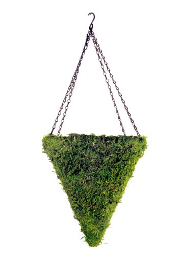Spanish Hanging Basket - Super Moss (29280) MossWeave Hanging Basket - Cone, Fresh Green, Large (12.5)