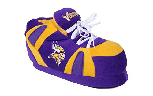 MNV01-2 - Minnesota Vikings - Medium - Happy Feet & Comfy Feet NFL Slippers -