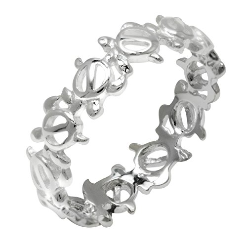 Honolulu Jewelry Company Sterling Silver Hawaiian Turtle Eternity ()