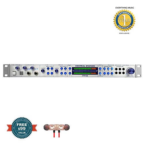 PreSonus Central Station Plus with CSR-1 Central Station Remote includes Free Wireless Earbuds - Stereo Bluetooth In-ear and 1 Year Everything Music Extended Warranty (Presonus Equalizer)