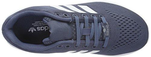 adidas Unisex-Erwachsene ZX Flux Em Low-Top Blau (Tech Ink/Ftwr White/Tech Ink)