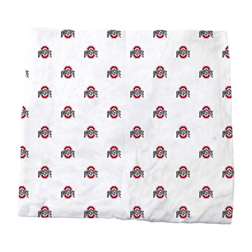 Wes and Willy Ohio State University Organic Cotton Fitted Baby and Infant Crib Sheet, White