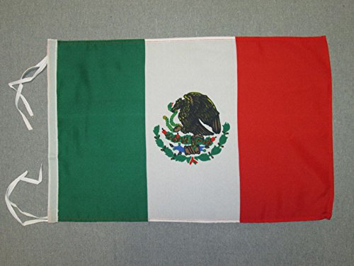 AZ FLAG Mexico Flag 18'' x 12'' Cords - Mexican Small Flags 30 x 45cm - Banner 18x12 in]()