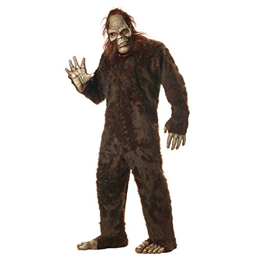 Sasquatch Mask (California Costumes Men's Big Foot,Dark Brown,One Size Costume)