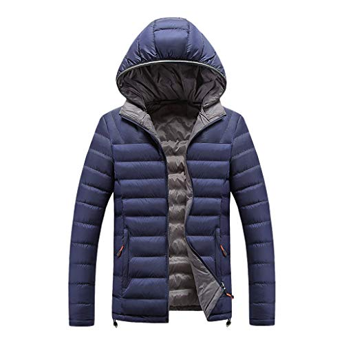 Benficial 2019 New Coat for Men Winter Hooded Softshell for Windproof and Waterproof Soft Coat Shell Jacket Dark Blue