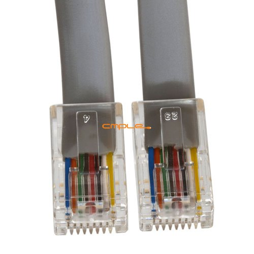 Cmple - Phone Cable, RJ45 (8P8C), Straight - 7 Feet (Data) 8p8c Phone