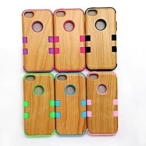CeeMart Wood Pattern Back Cover Hard Case for iPhone 5C - Green