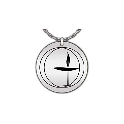 - Hot Fresh And Funny UU Flaming Chalice Necklace, Universal Unitarian - UUA Flame Symbol Pendant - Stainless Steel