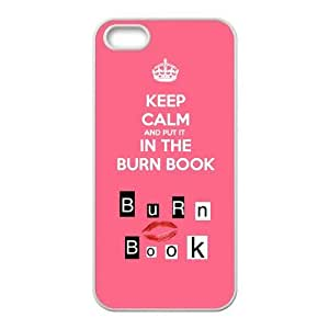 Keep Calm and Put It in the Burn Book Personalized Durable plastic Case for iphone 4s